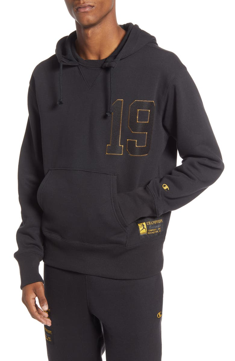 CHAMPION Century Collection Gold 19 Hooded Sweatshirt, Main, color, 001