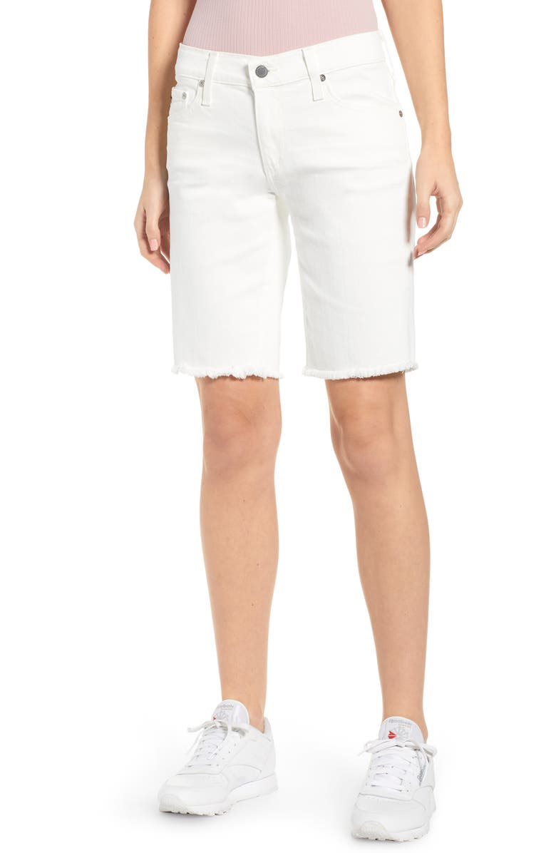 AG Nikki Relaxed Bermuda Shorts, Main, color, 01 YEAR TONAL WHITE