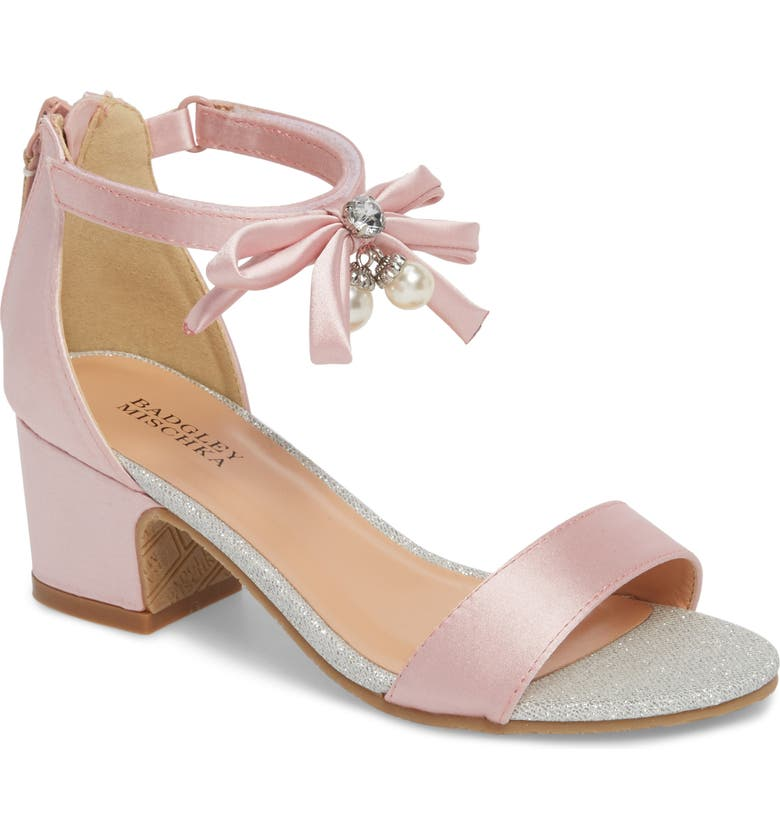 BADGLEY MISCHKA COLLECTION Badgley Mischka Pernia Embellished Sandal, Main, color, PINK/ SILVER