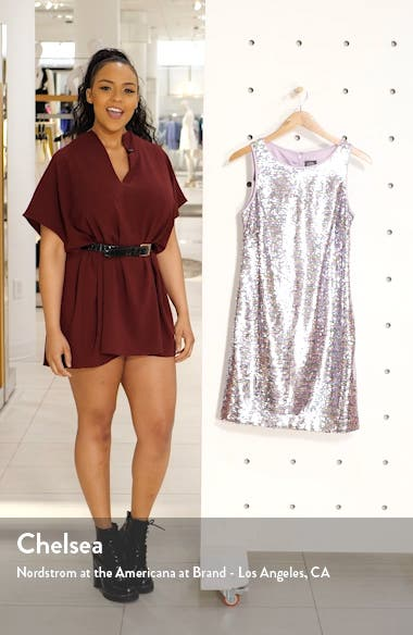 Off the Shoulder Crepe Sheath Dress, sales video thumbnail