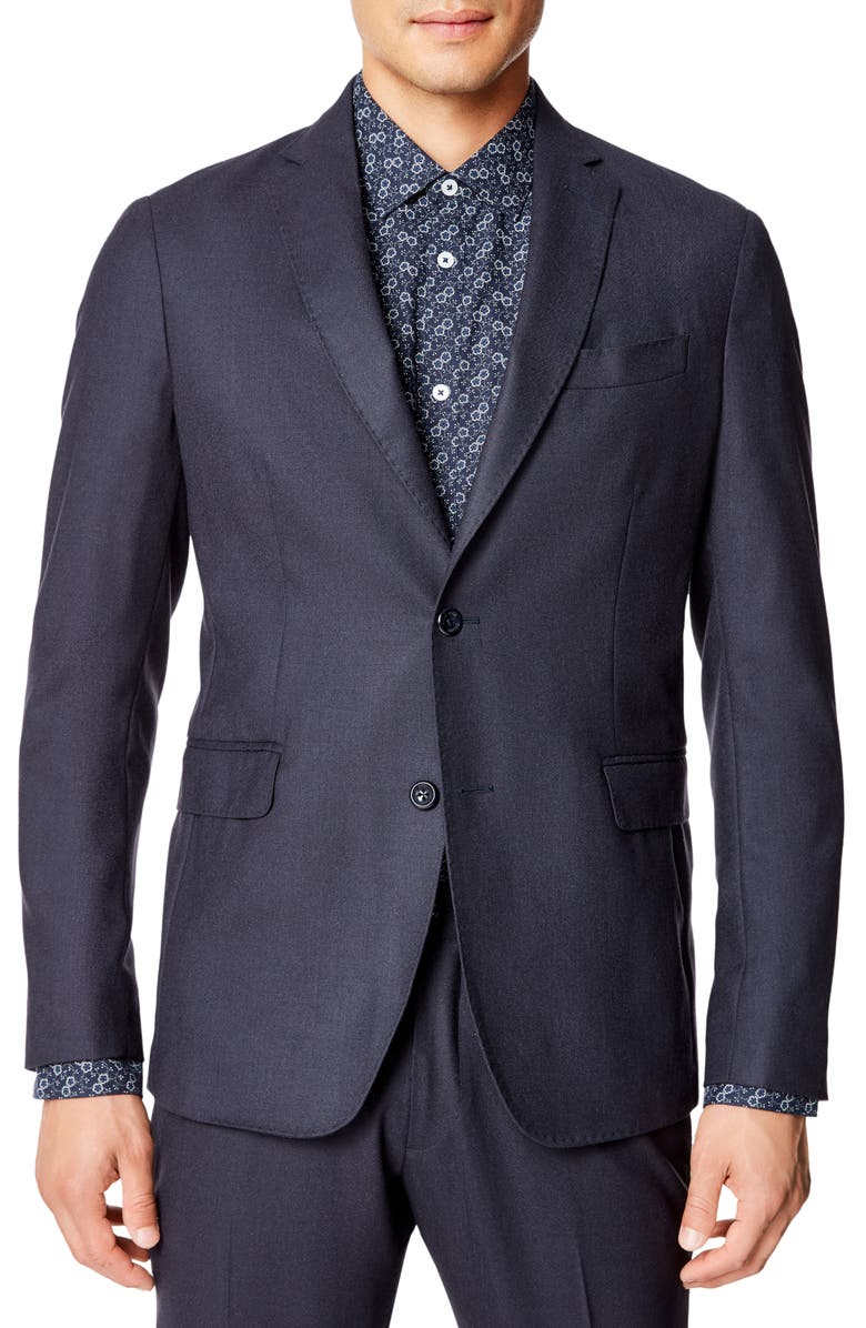GOOD MAN BRAND Slim Fit Solid Wool Sport Coat, Main, color, NAVY