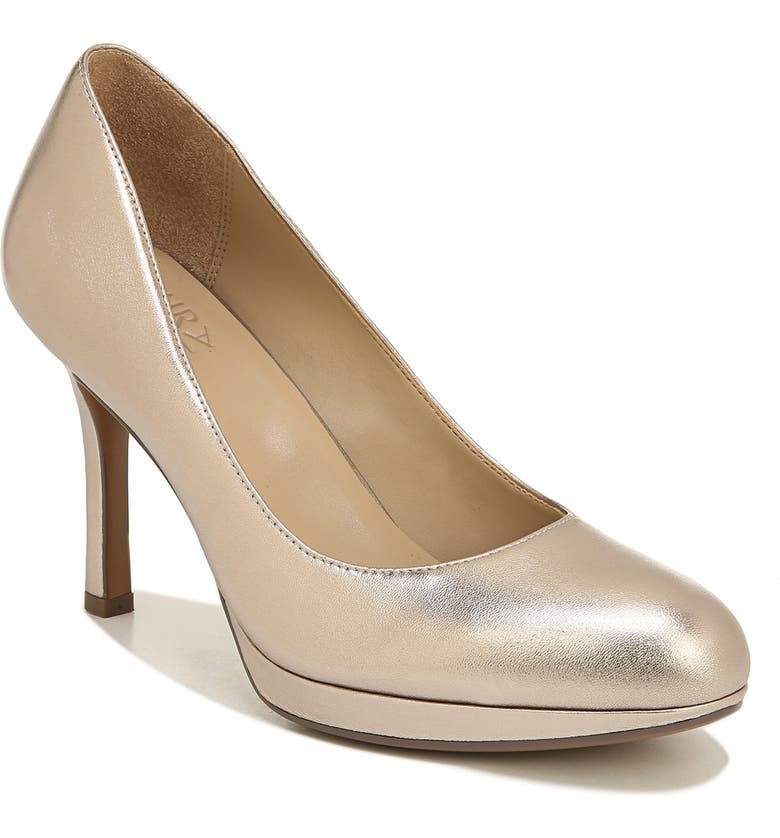 NATURALIZER Celina Almond Toe Pump, Main, color, LIGHT BRONZE METALLIC LEATHER