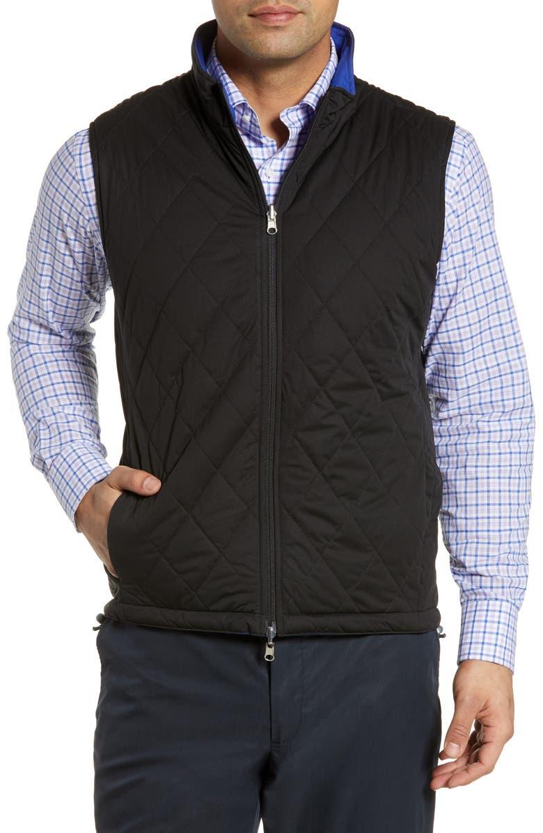 PETER MILLAR Deuce Water Resistant Reversible Vest, Main, color, 001