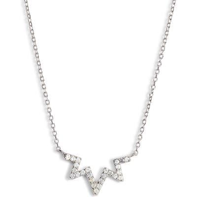 Anzie Sapphire Zigzag Necklace
