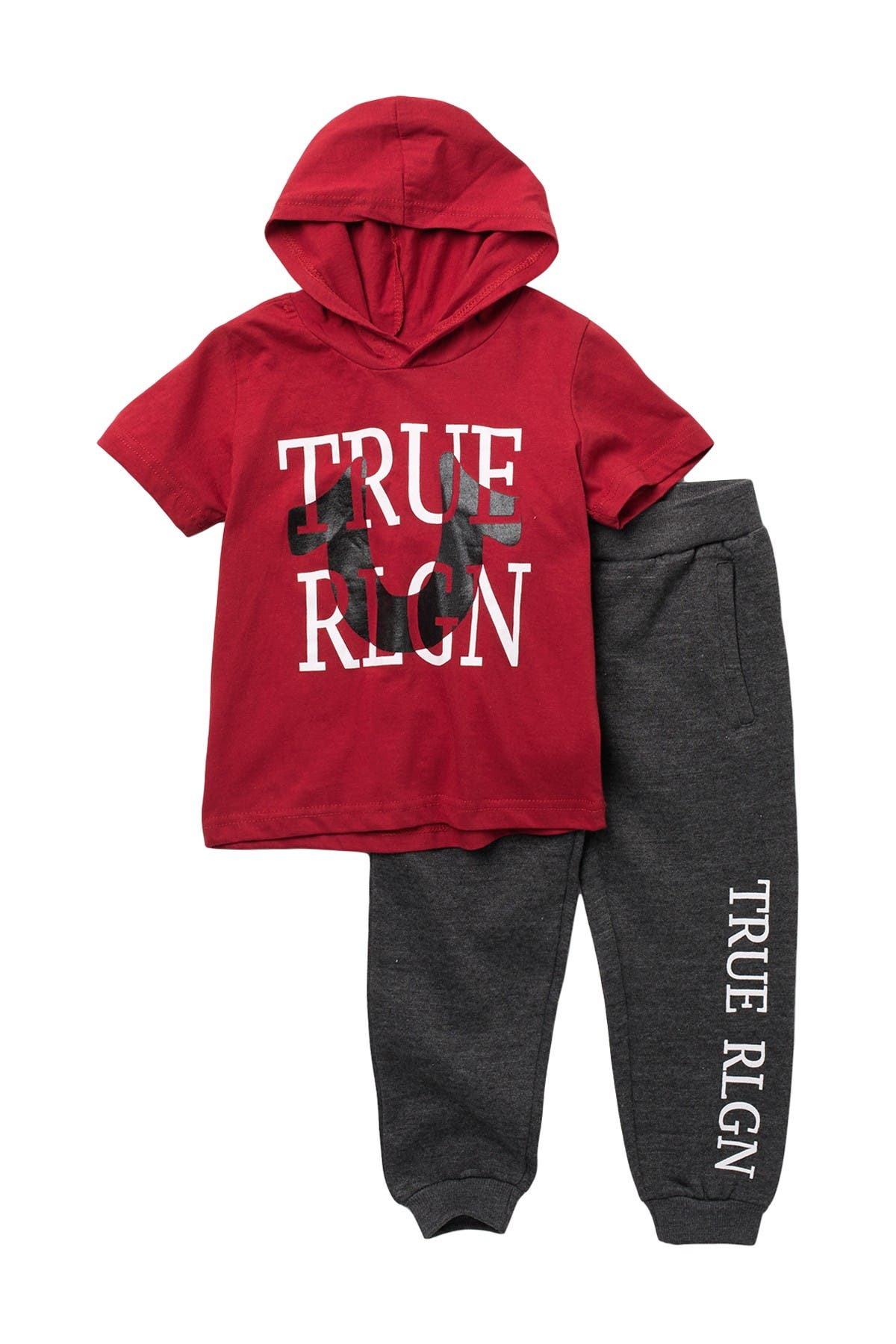 Image of True Religion Hooded Tee & Fleece Joggers Set