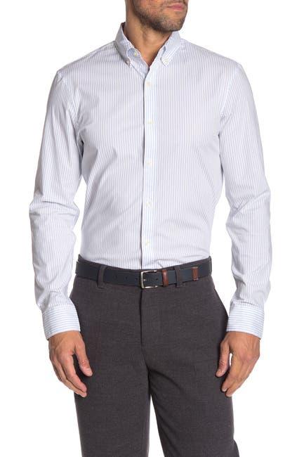 Image of Michael Kors Striped Trim Fit Shirt