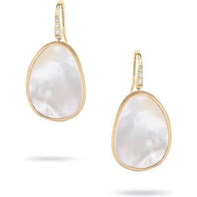 Marco Bicego Lunaria Mother-Of-Pearl Drop Earrings