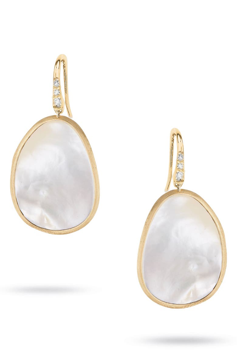 MARCO BICEGO Lunaria Mother of Pearl Drop Earrings, Main, color, YELLOW GOLD