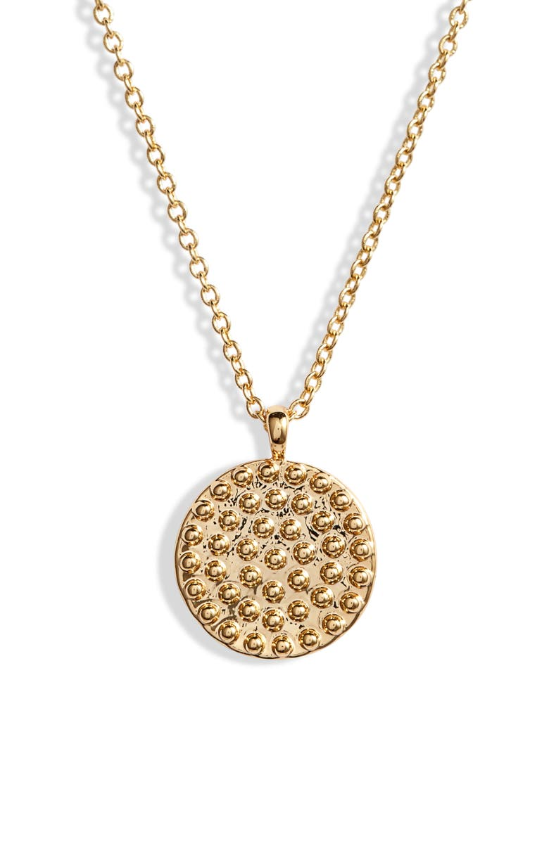 GORJANA Bali Coin Pendant Necklace, Main, color, GOLD