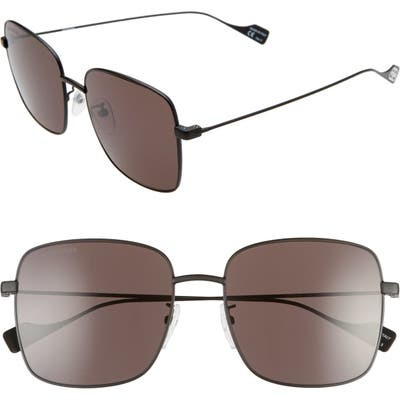 Balenciaga 57mm Square Sunglasses - Black/ Grey