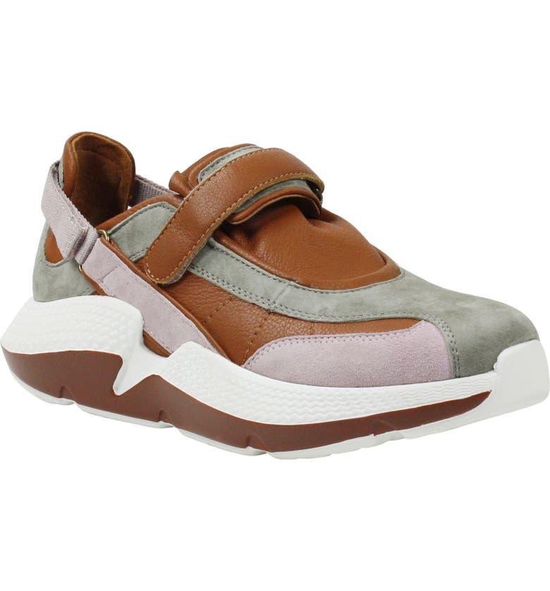 L'AMOUR DES PIEDS Harvison Sneaker, Main, color, GREY/ MAUVE/ WHISKY