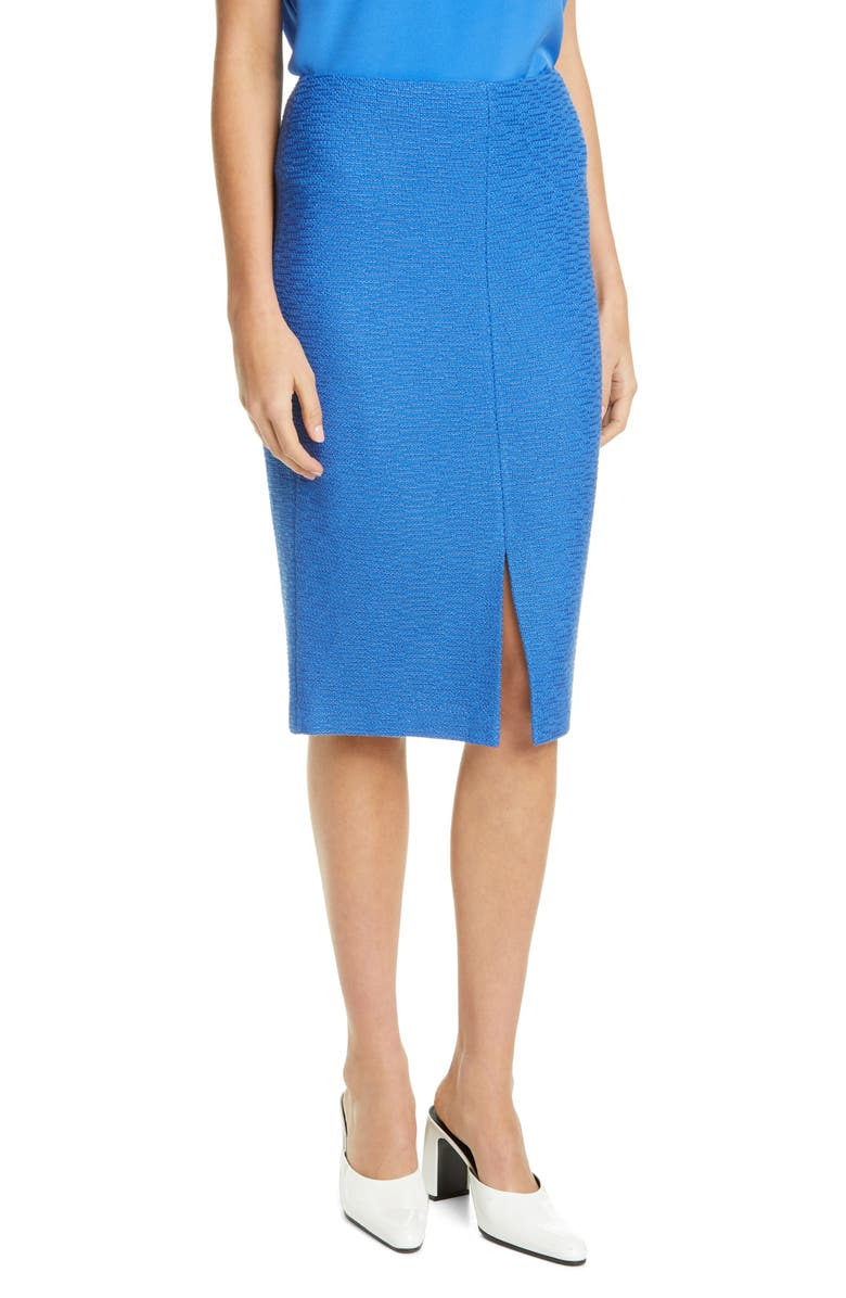 ST. JOHN COLLECTION Shantung Ottoman Knit Skirt, Main, color, OASIS