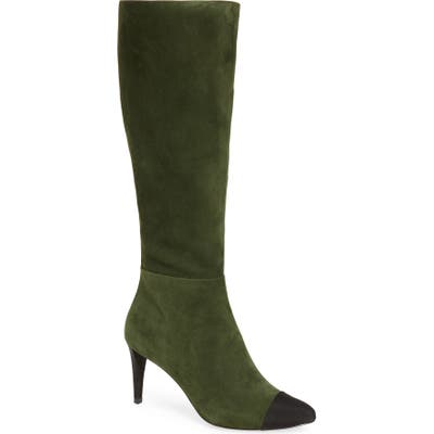 Karl Lagerfeld Paris Marcy Knee High Boot- Green