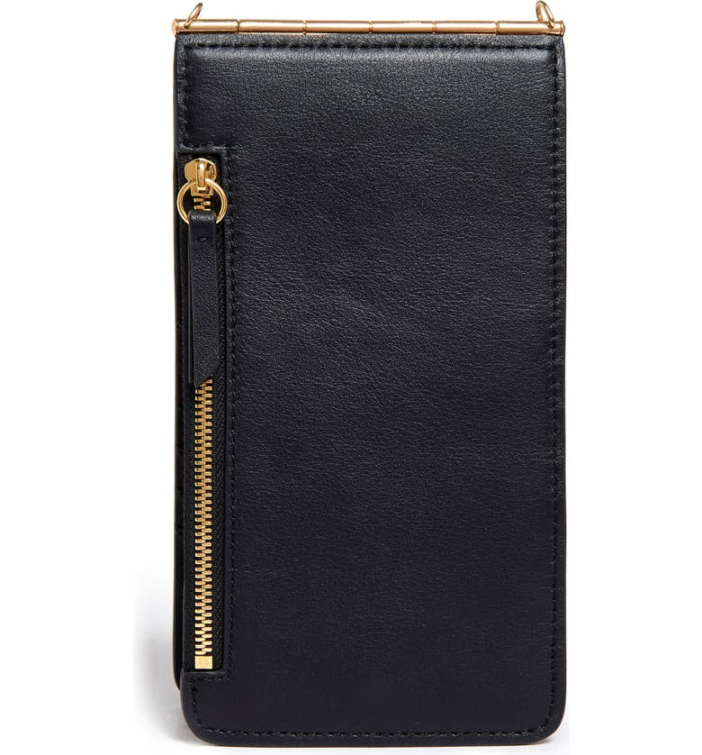 THACKER Nora Leather Phone Crossbody Bag, Main, color, 001