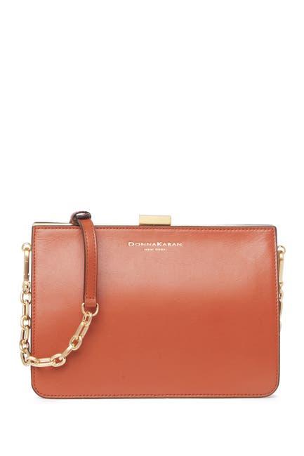 Image of Donna Karan Tate Leather Clutch