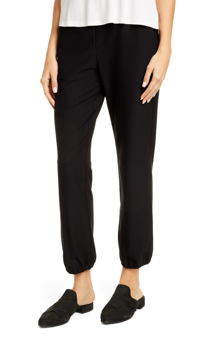 EILEEN FISHER Tech Pants, Main, color, 001