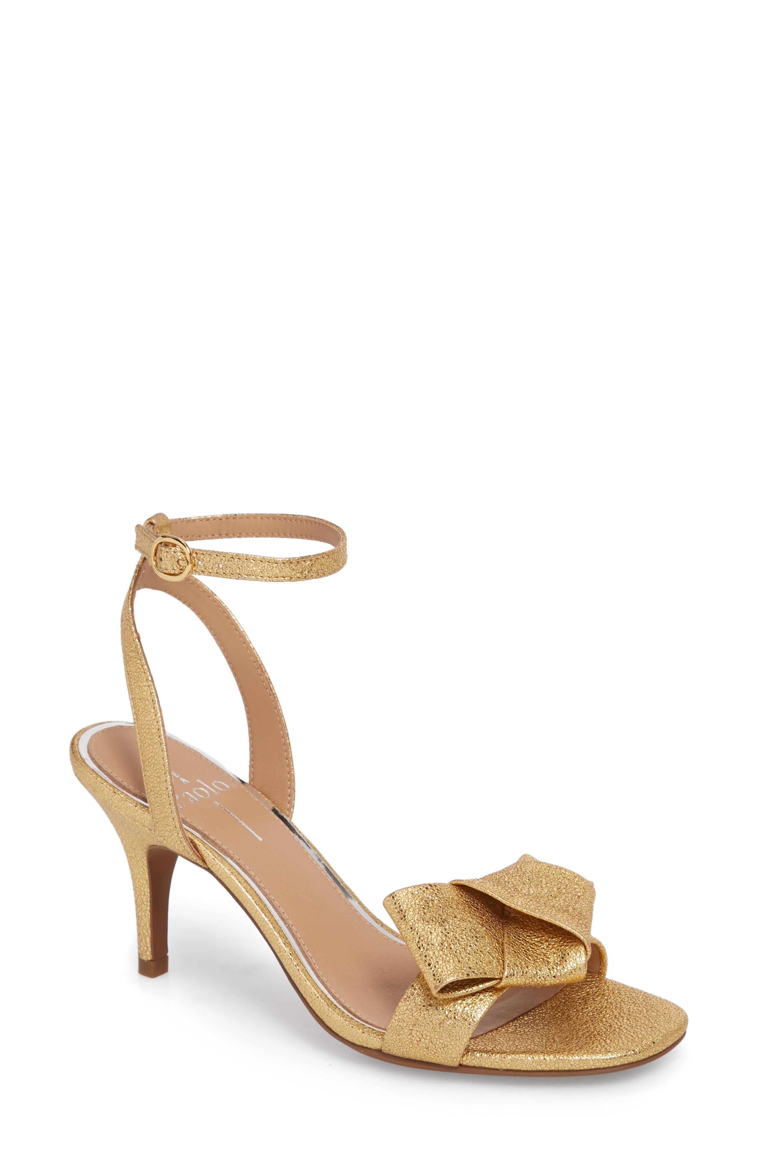 Linea Paolo Haven Ankle Strap Sandal, Metallic