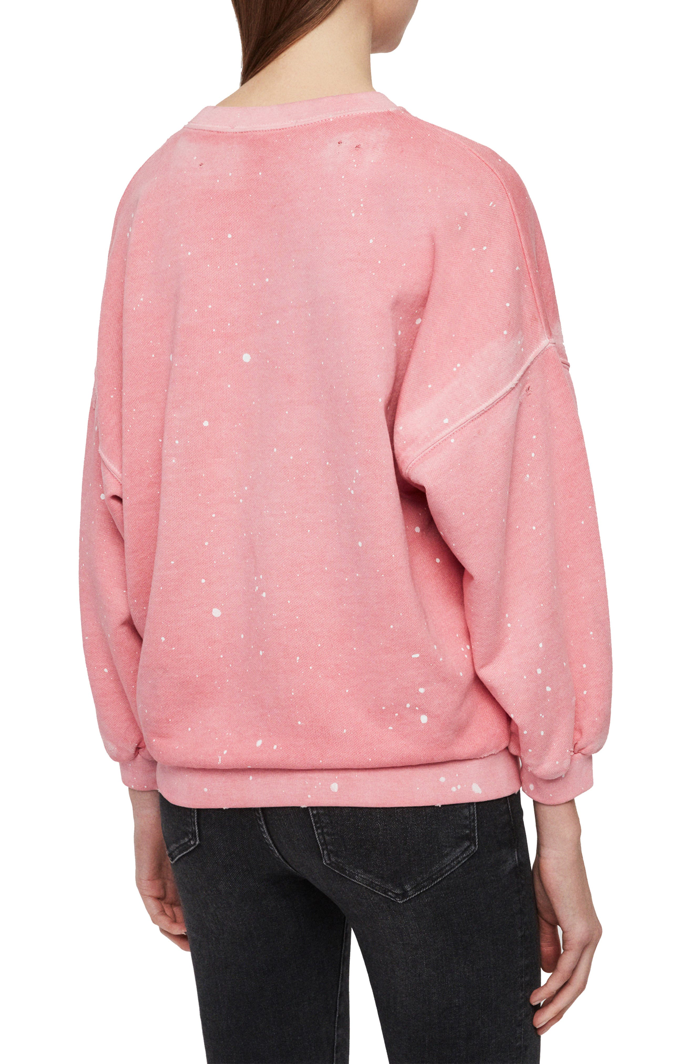 ,                             Storn Splatter Sweatshirt,                             Alternate thumbnail 2, color,                             PINK