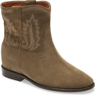 Isabel Marant Crisi Embroidered Western Bootie