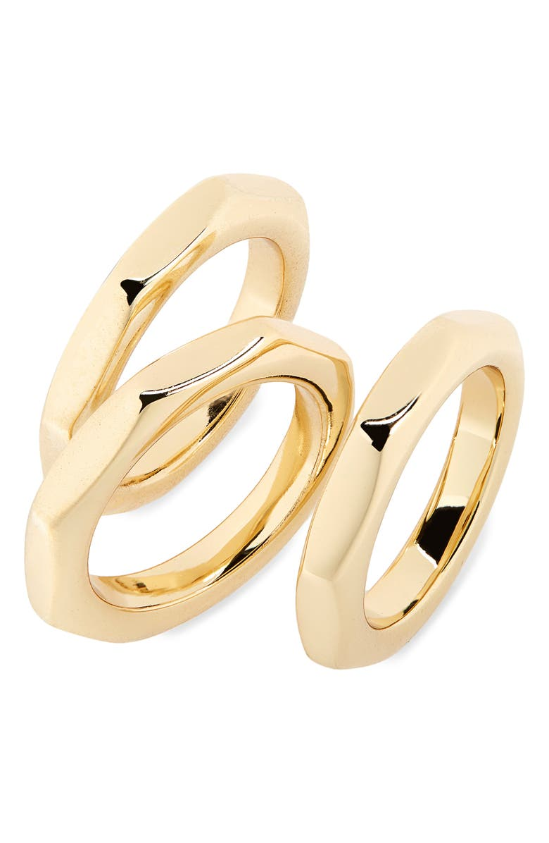 HALOGEN<SUP>®</SUP> Set of 3 Angular Stacking Rings, Main, color, GOLD