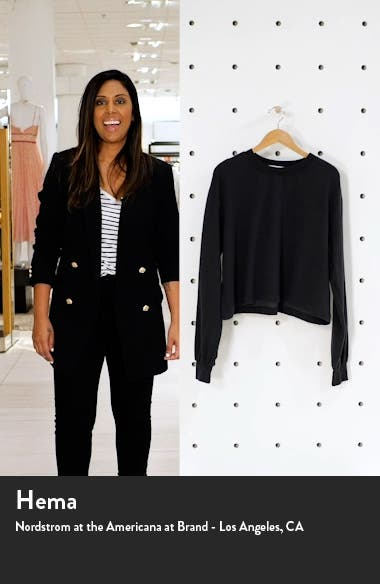 Women's Boxy Crop Sweatshirt, sales video thumbnail