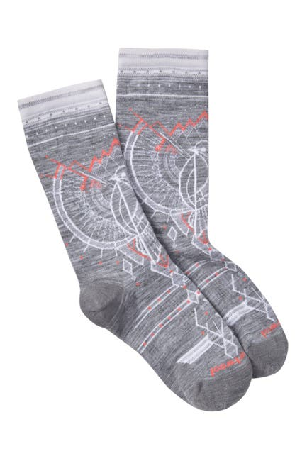 Image of SmartWool Mountain Magpie Printed Crew Socks