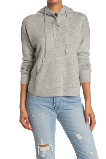 Image of James Perse Cashmere Hooded Sweatshirt