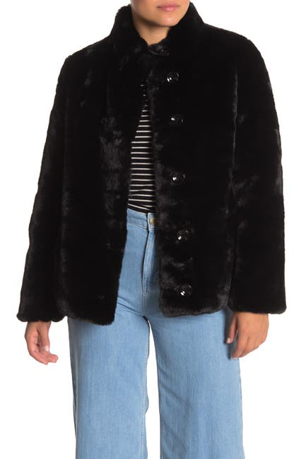 Image of Love Token Rihanna Reversible Faux Fur Jacket