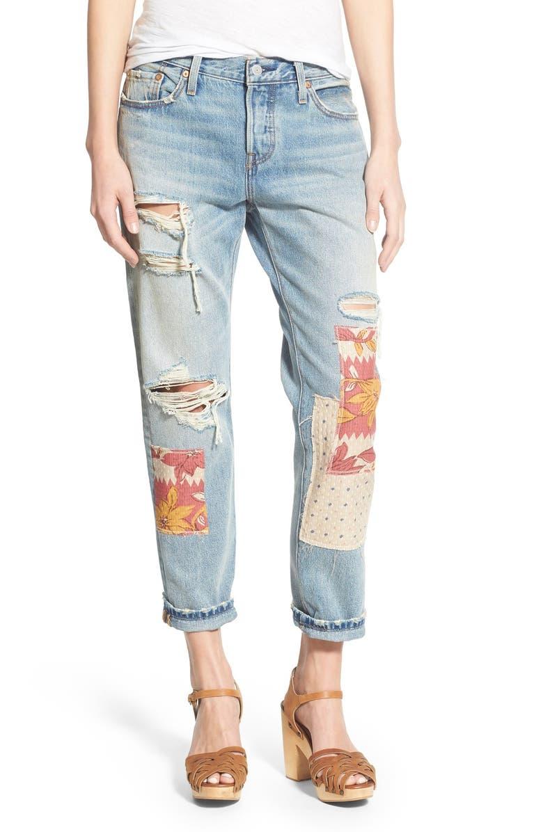 e1924bb2 Levi's® '501® CT' Ripped & Repaired Boyfriend Jeans (Desperado Patch ...