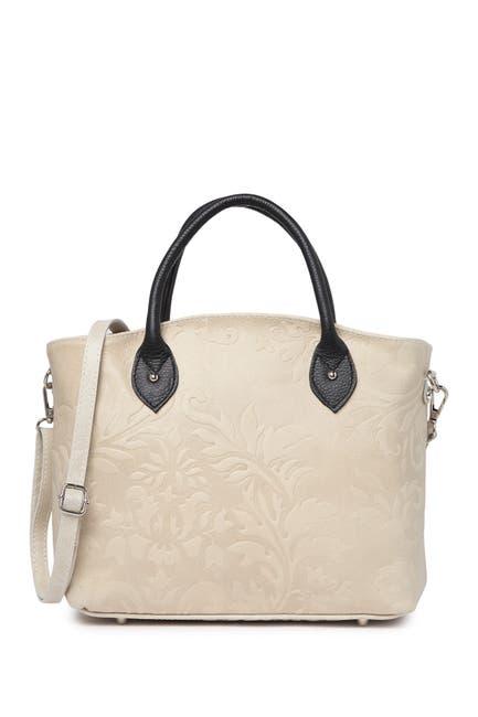 Image of Renata Corsi Embossed Leather Shoulder Bag