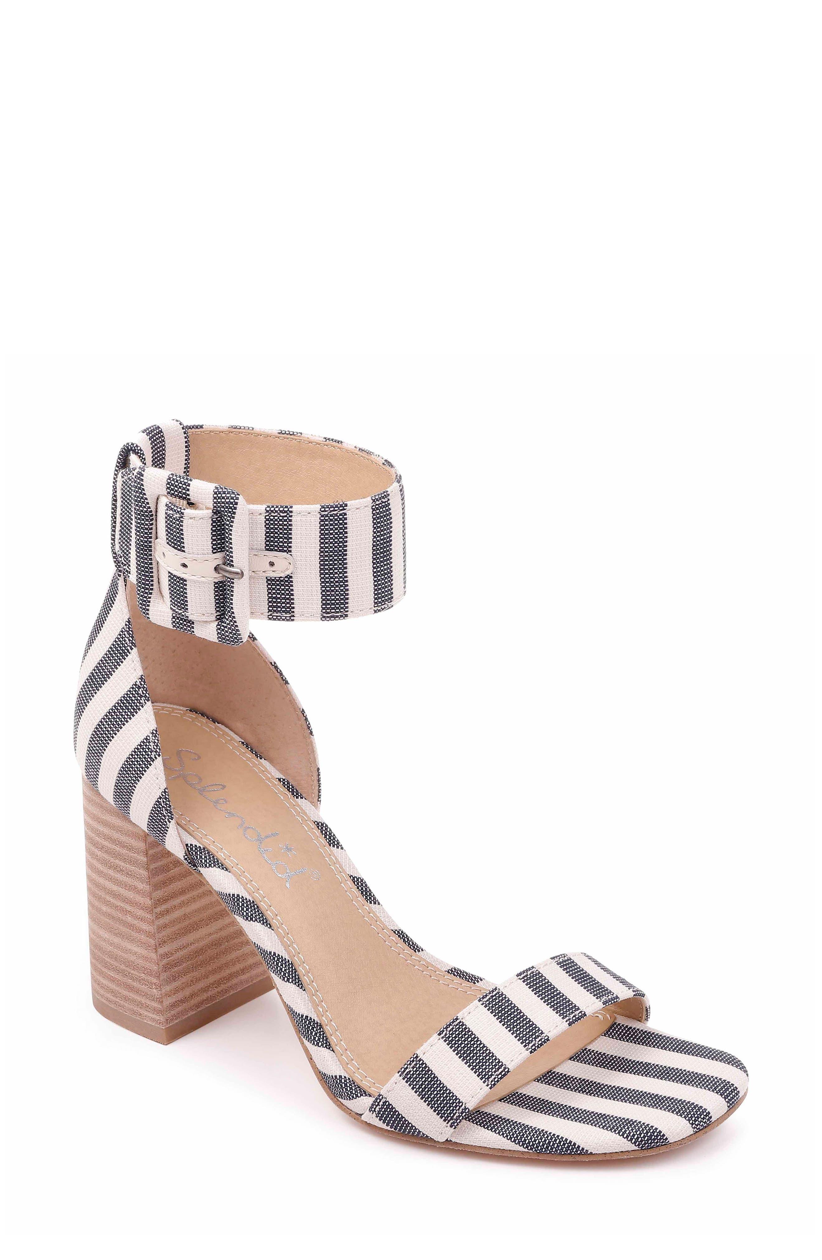 Splendid Block Heel Sandal, Blue