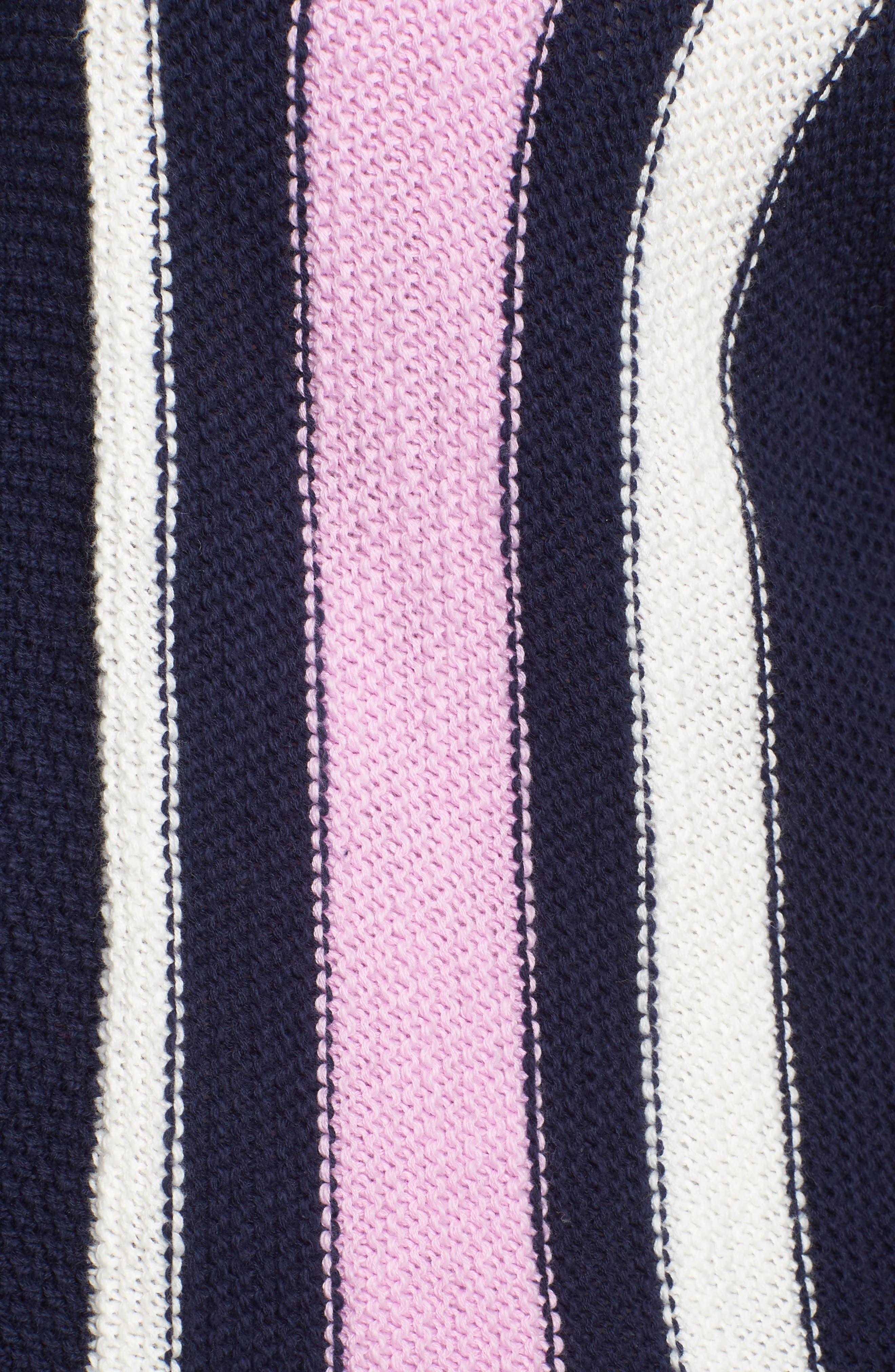 ,                             Stripe Open Front Cardigan,                             Alternate thumbnail 5, color,                             410