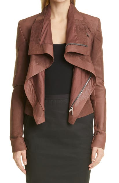 Rick Owens CLASSIC LEATHER BIKER JACKET
