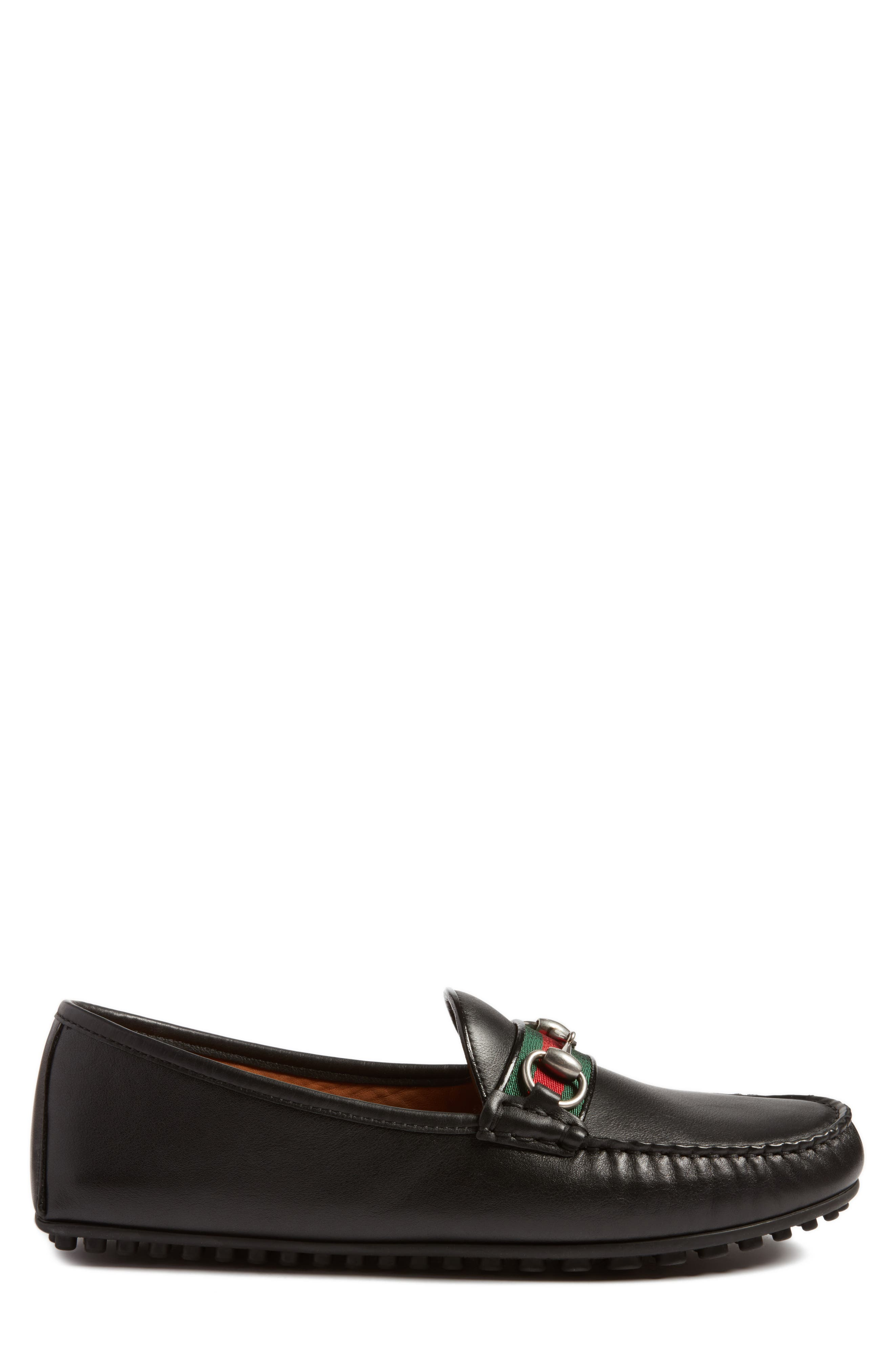 ,                             Bit Loafer,                             Alternate thumbnail 3, color,                             NERO LEATHER