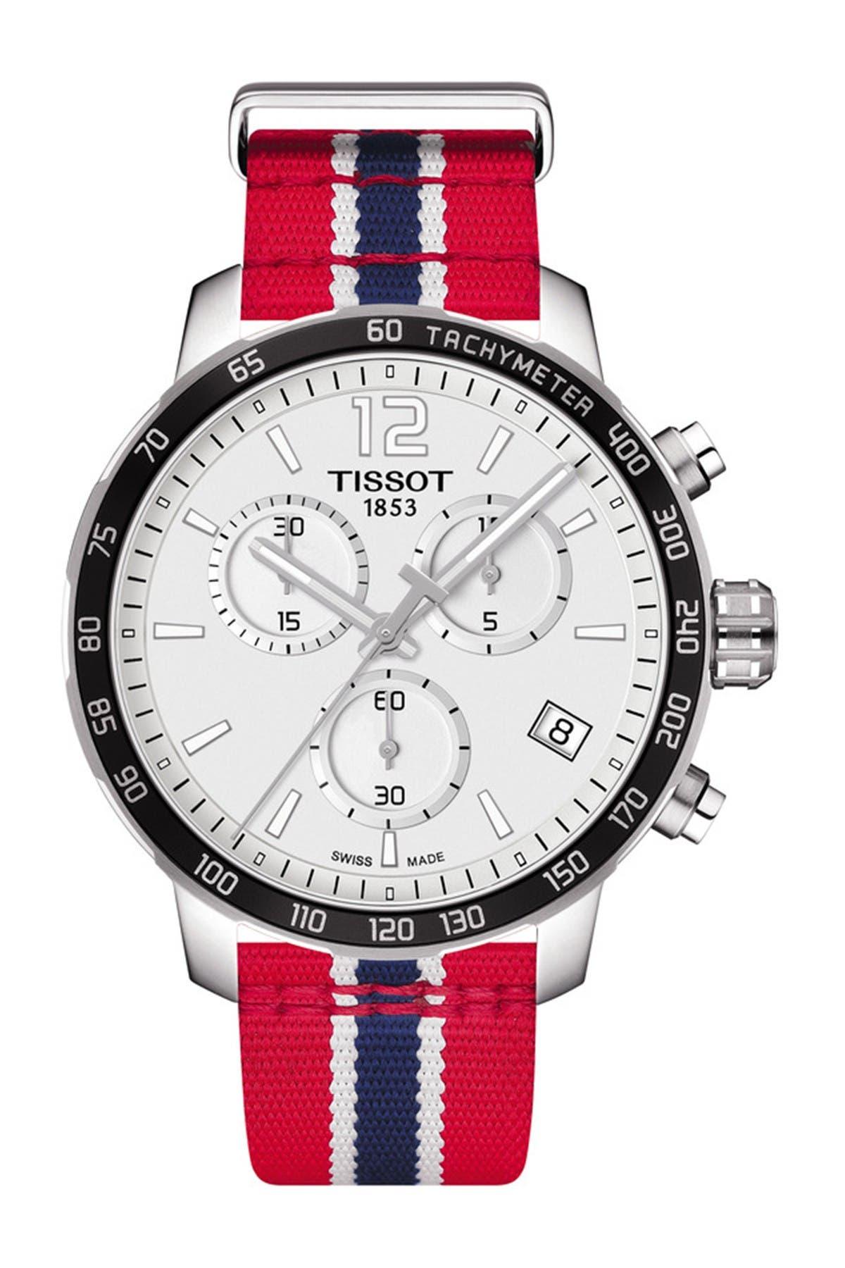 Image of Tissot Men's Quickster Chronograph NBA Washington Wizards Watch, 42mm
