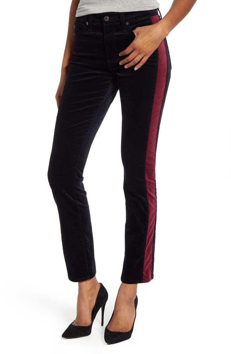 AG Mari Tuxedo Stripe Pants, Main, color, 010