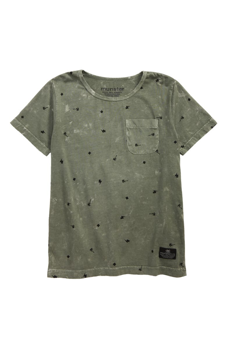 MUNSTERKIDS Palm Punk Pocket T-Shirt, Main, color, 342