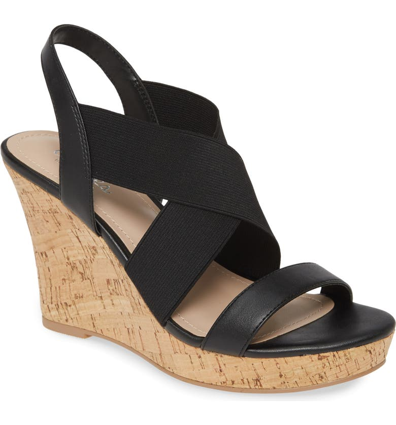 CHARLES BY CHARLES DAVID Lupita Wedge Sandal, Main, color, 001