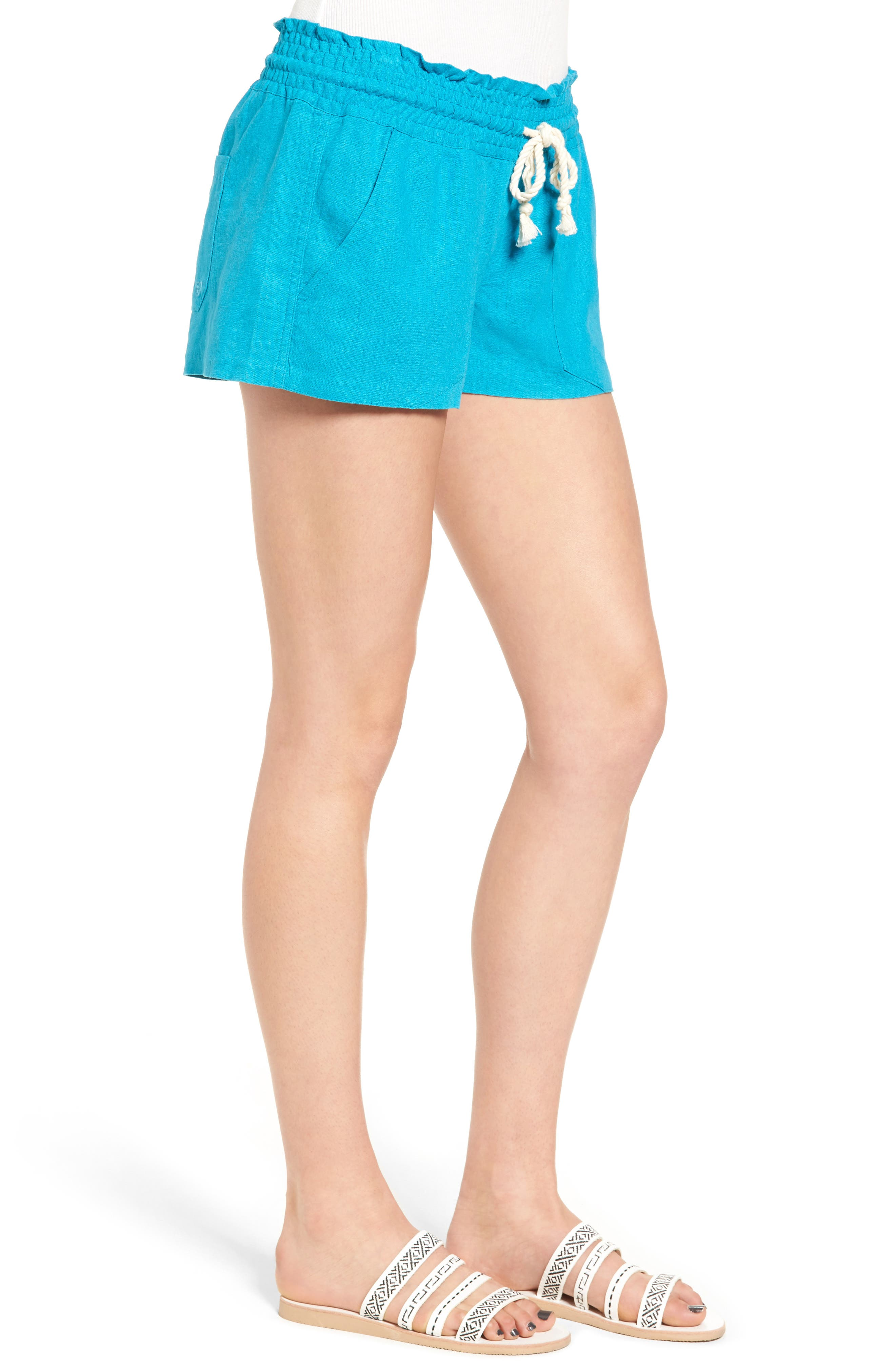 ,                             'Oceanside' Linen Blend Shorts,                             Alternate thumbnail 28, color,                             400