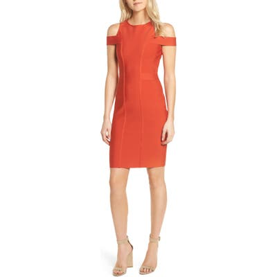 Sentimental Ny Cold Shoulder Body-Con Dress, Red