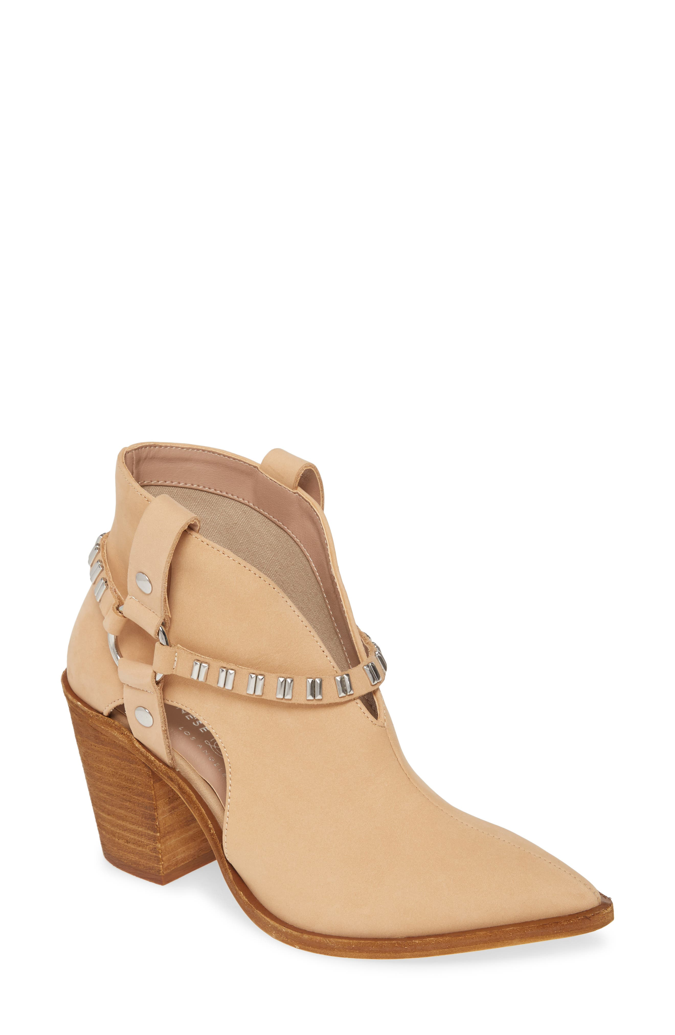 Chinese Laundry Tabby Studded Western Bootie- Beige