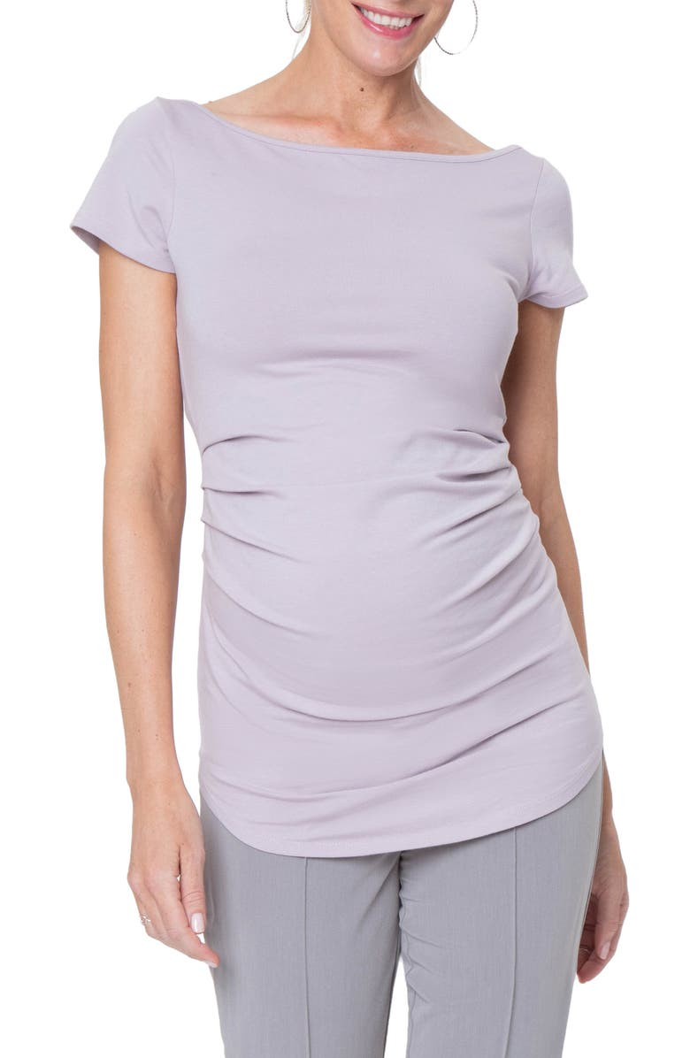 STOWAWAY COLLECTION Ballet Maternity Tunic, Main, color, LAVENDER