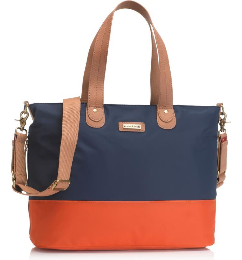 STORKSAK Colorblock Diaper Bag, Main, color, 411