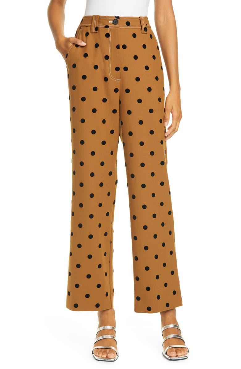 STINE GOYA John Polka Dot Pants, Main, color, 1113 DOTS