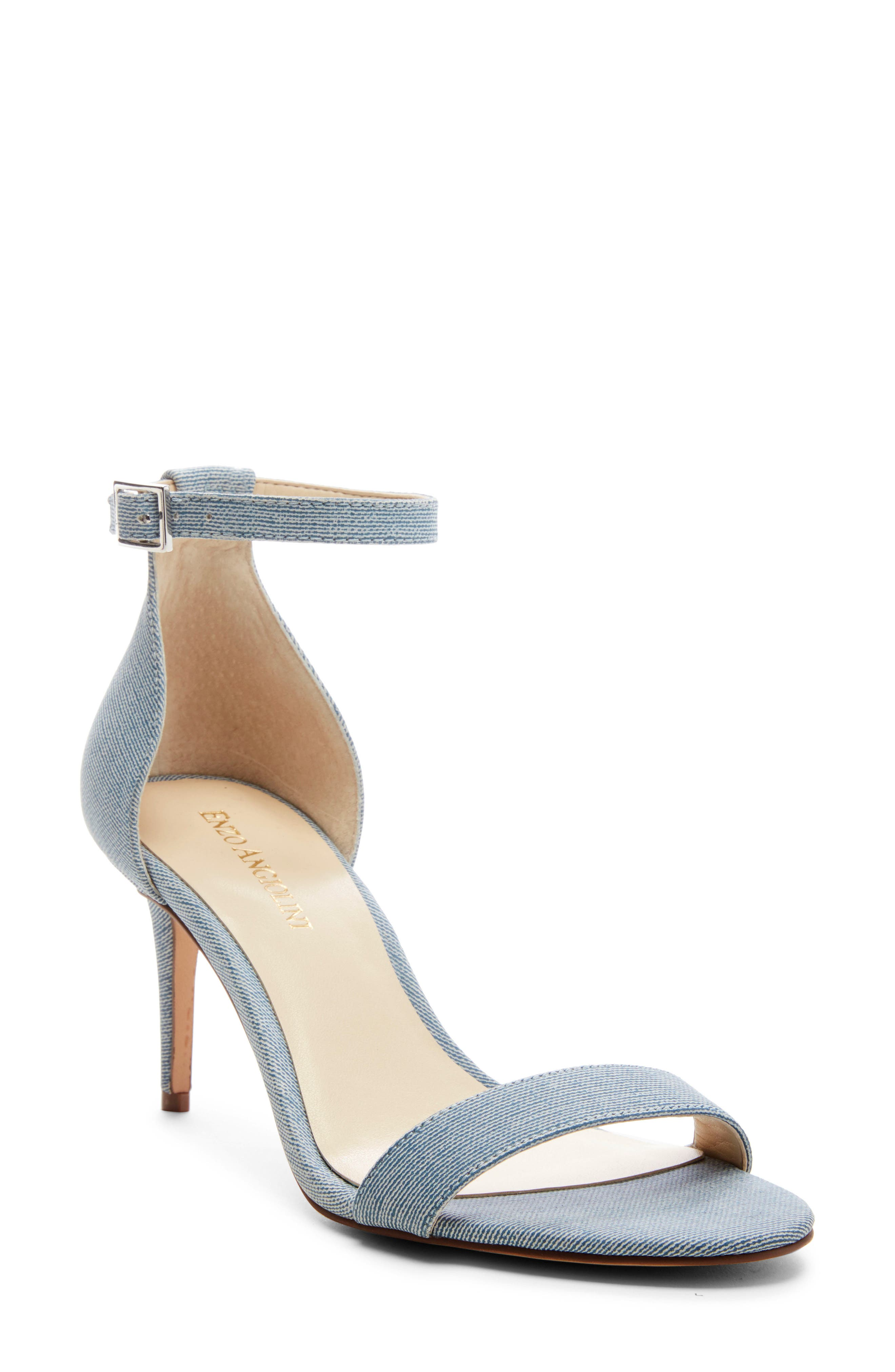 Enzo Angiolini Ahmber Ankle Strap Sandal, Blue