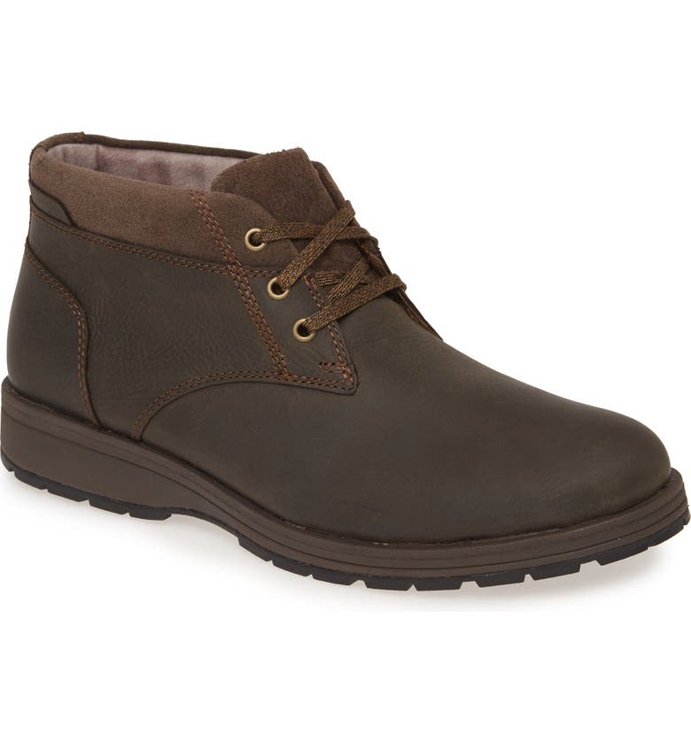 HUSH PUPPIES<SUP>®</SUP> Hush Puppies Beauceron Short Ice Chukka Boot, Main, color, DARK BROWN WP LEATHER
