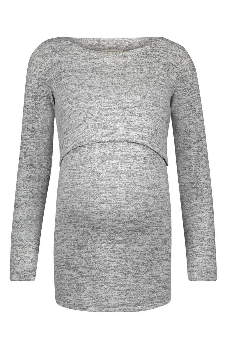 NOPPIES Angela Long Sleeve Maternity/Nursing Tee, Main, color, 020