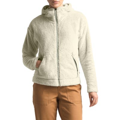 The North Face Furry Fleece Hooded Jacket, White