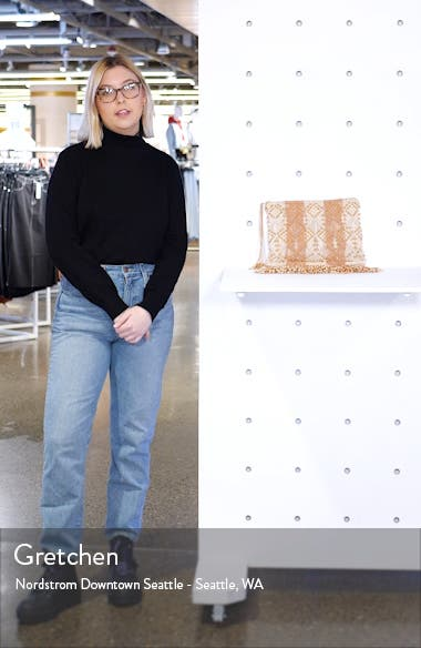 Evy Beaded Woven Clutch, sales video thumbnail