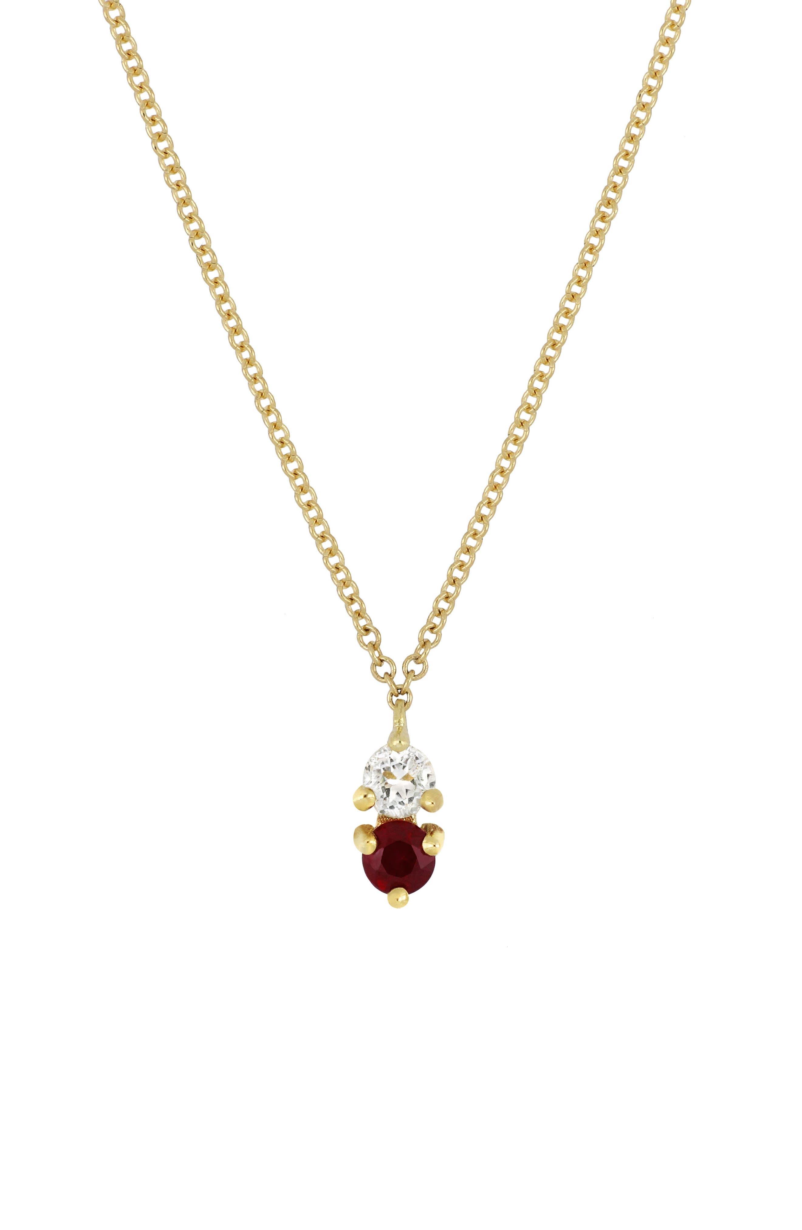 ,                             Birthstone Pendant Necklace,                             Main thumbnail 19, color,                             601
